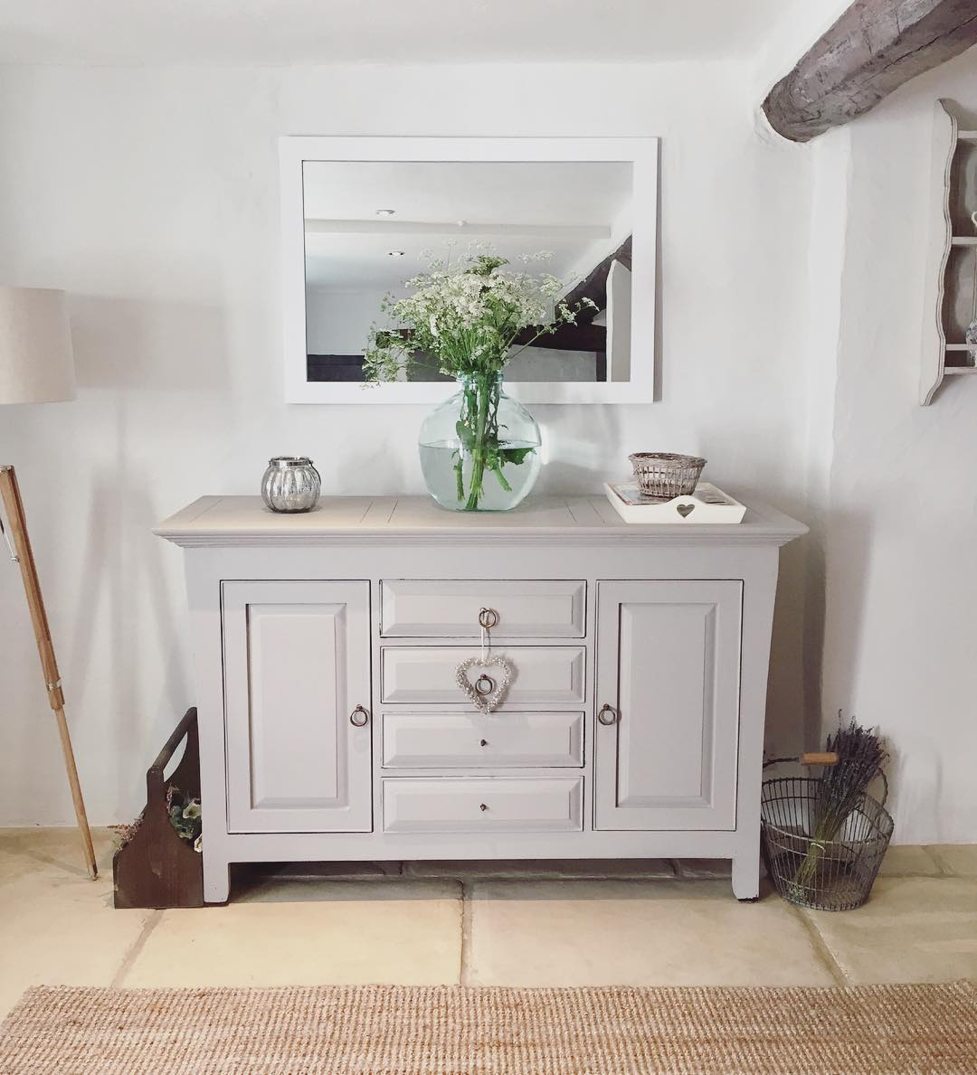 What do you think of this gorgeous grey dresser in a country cottage in the UK? See the full home tour on www.lovetohome.co.uk