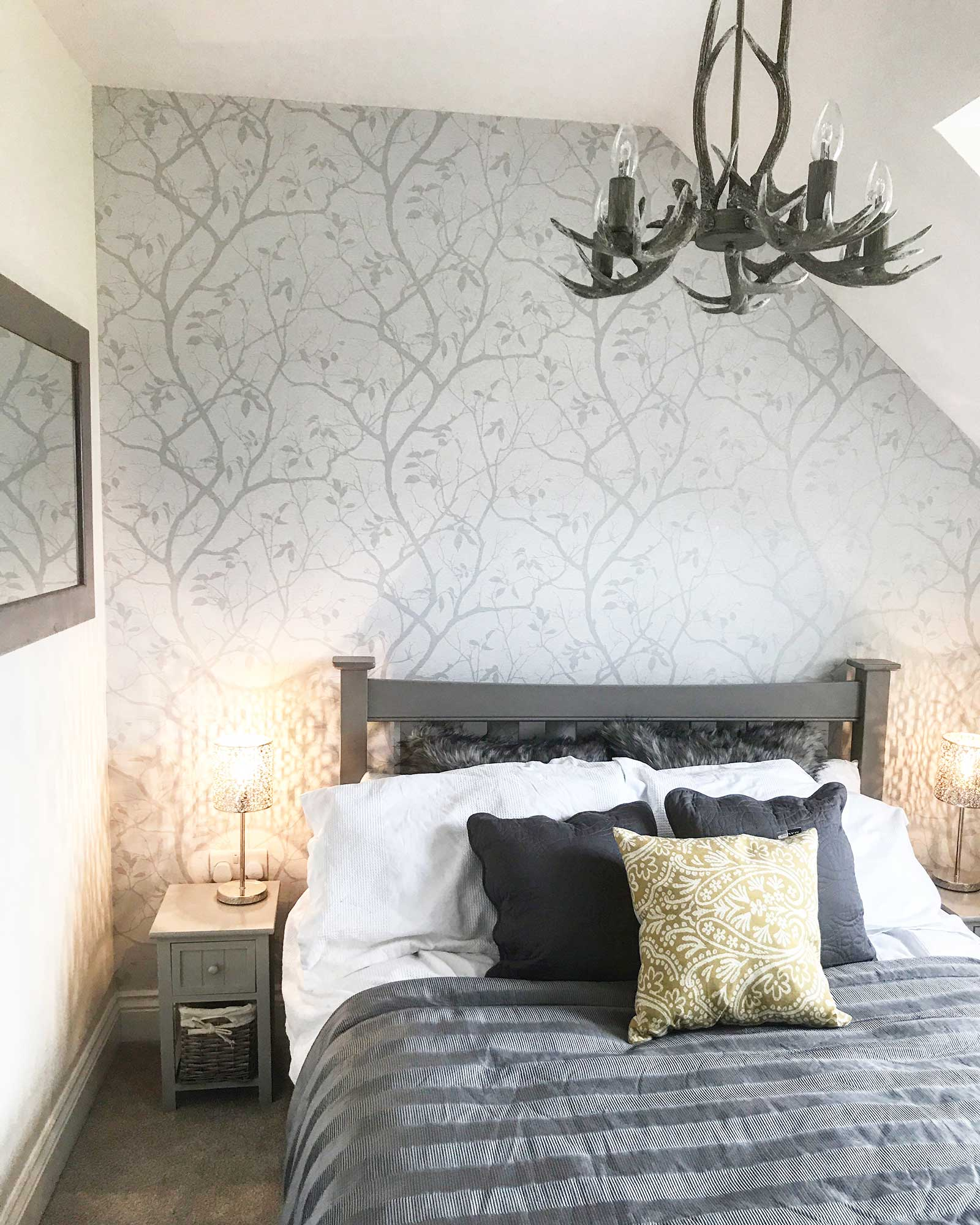 Guest bedroom: check out this new build home in the UK - it's eclectic, glamorous and welcoming @my_home_impression