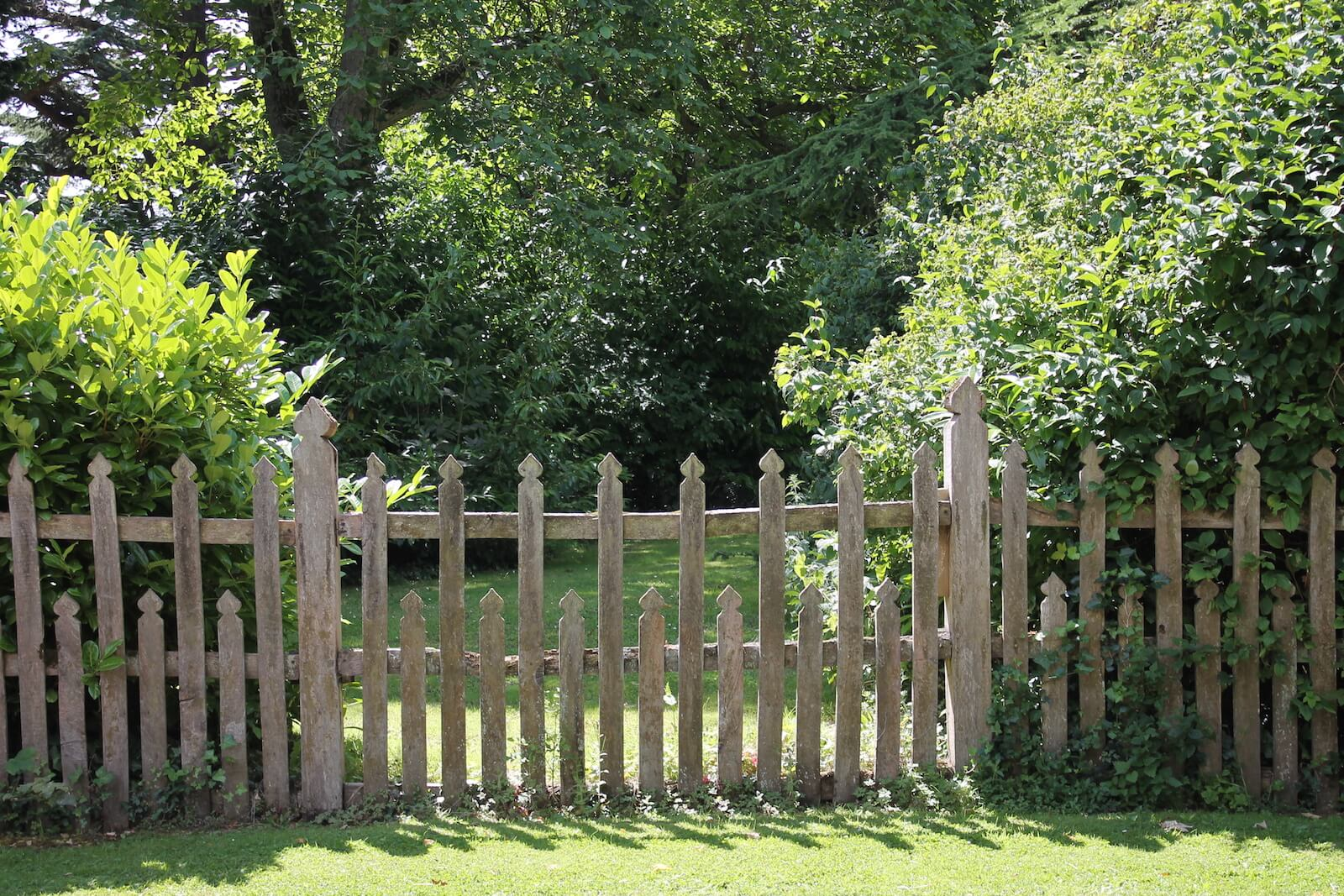 An English country garden fence, here's how you can make your outdoor space bright and beautiful this summer.