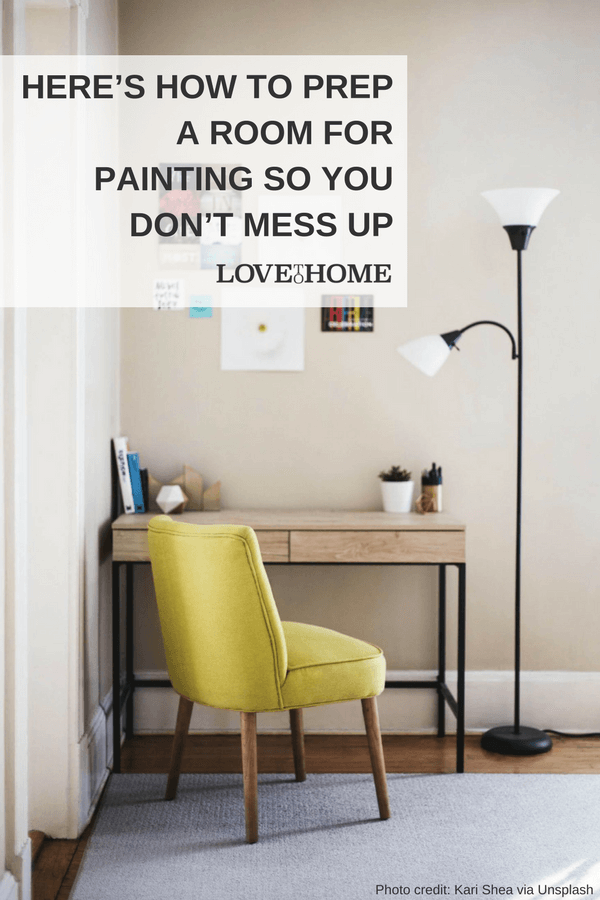 Here's how to prep a room for painting so you don't mess up