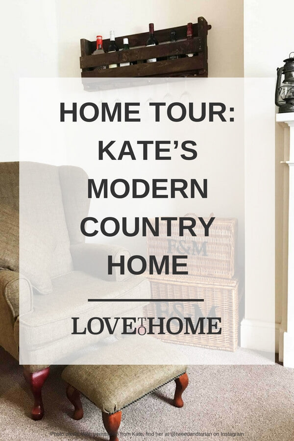 If you love the modern country interior style, you're going to love Kate's home tour. See it here on www.lovetohome.co.uk
