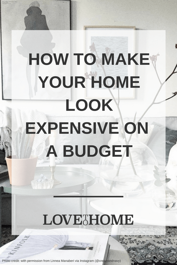 Struggling to make your home look Pinterest-y and expensive? Here's how to make your home look expensive on a budget via www.lovetohome.co.uk (image with permission from @creamandnavy)