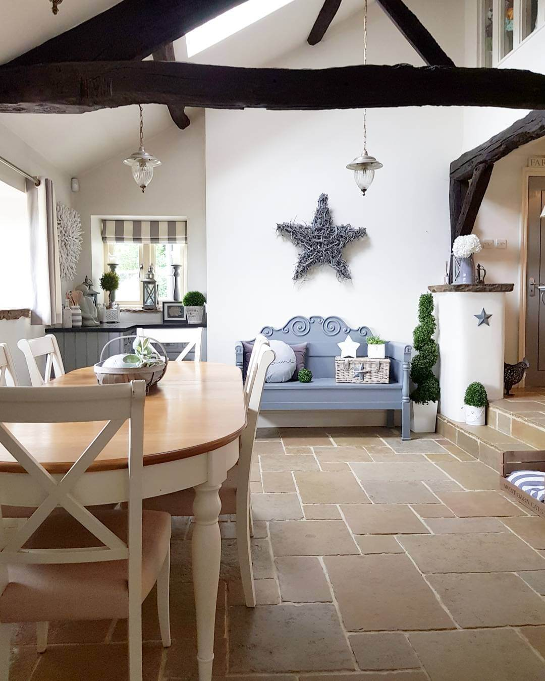 A modern country dining room with a dash of danish - Hear what Colleen from West Barn Interiors has to say www.lovetohome.co.uk