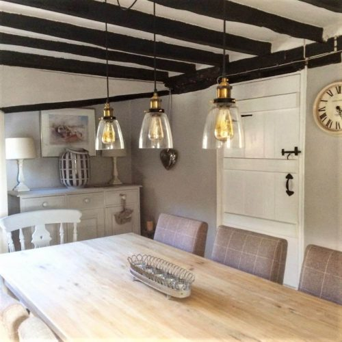 Dining table: Would you renovate a listed property? Amanda did. Find out how she got in here on www.lovetohome.co.uk - Photo credit: with permission from @theoldforgecottage