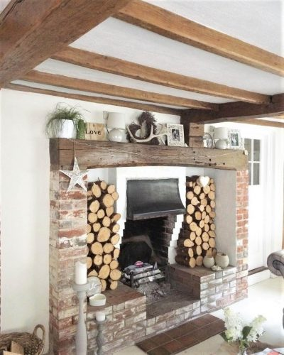 Living room fire place: Would you renovate a listed property? Amanda did. Find out how she got in here on www.lovetohome.co.uk - Photo credit: with permission from @theoldforgecottage