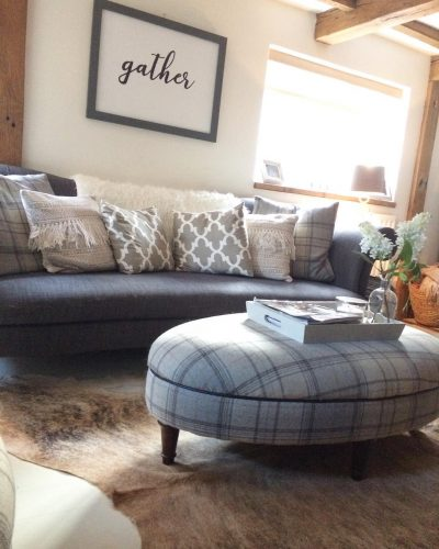 DFS sofa and footstool: would you renovate a listed property? Amanda did. Find out how she got in here on www.lovetohome.co.uk - Photo credit: with permission from @theoldforgecottage