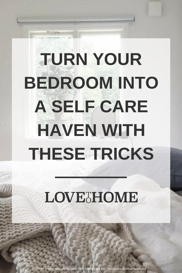 Need some time on your own to recharge and recuperate? Here's how to turn your bedroom into a self-care haven with www.lovetohome.co.uk Image credit: @creamandnavy via Instagram