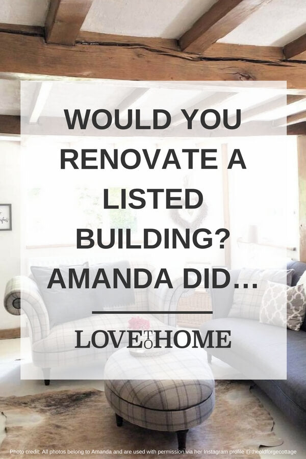Would you ever renovate a listed building? That's exactly what Amanda did. See how she get on - www.lovetohome.co.uk Photo credit: @theoldforgecottage