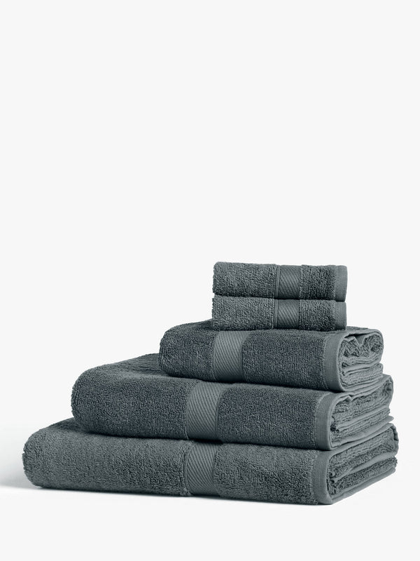 Basic Cotton Towels, Steel