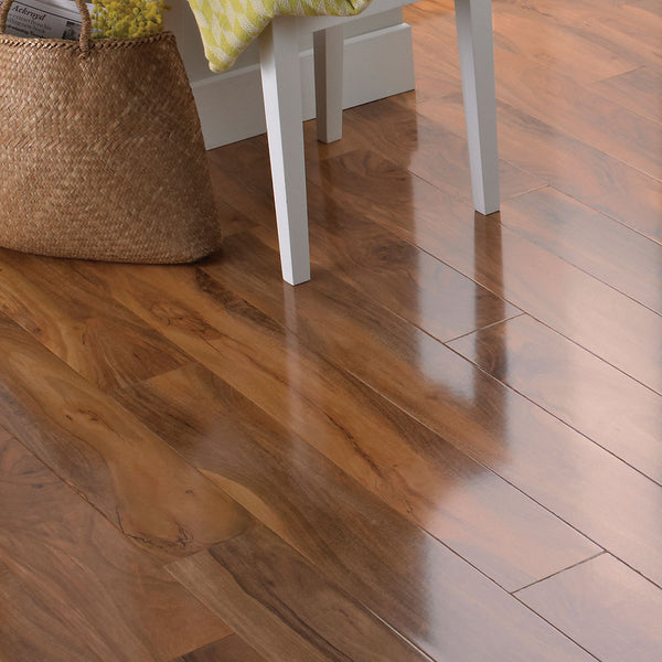 Colours Dolce Natural Walnut effect Laminate flooring