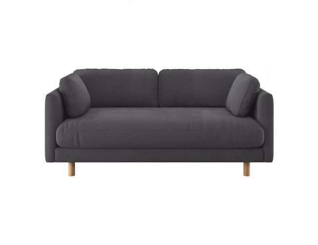MORI Charcoal cotton blend 2 seater sofa