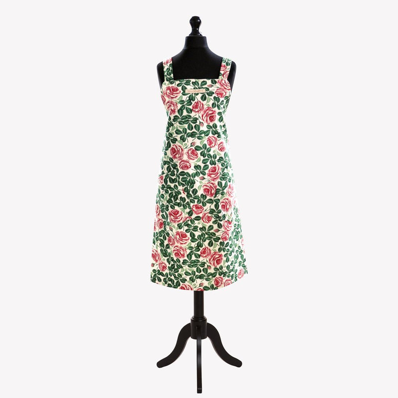 Pink Roses Crossback Apron
