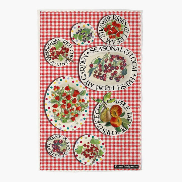 Red Gingham Picnic Tea Towel