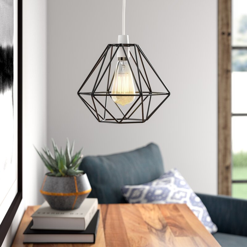20cm Diablo Metal Wire Frame Ceiling Pendant Shade