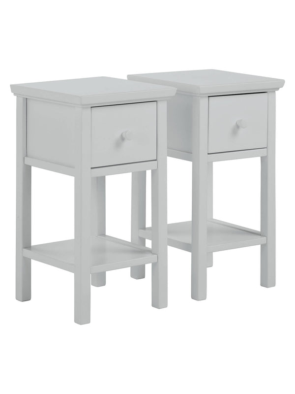 John Lewis & Partners Wilton Bedside Tables, Set of 2, Grey