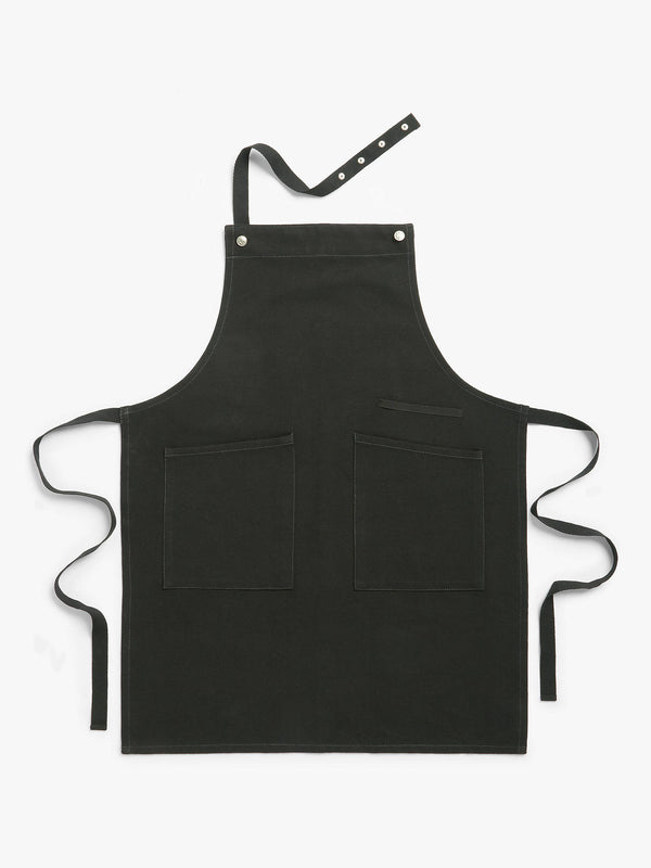 John Lewis & Partners Professional Cotton Apron, Black
