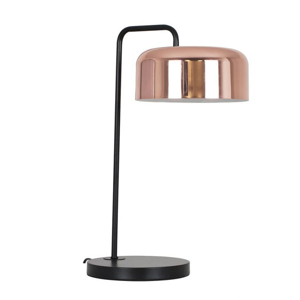 Iconic Fiske Table Lamp in Copper and Black