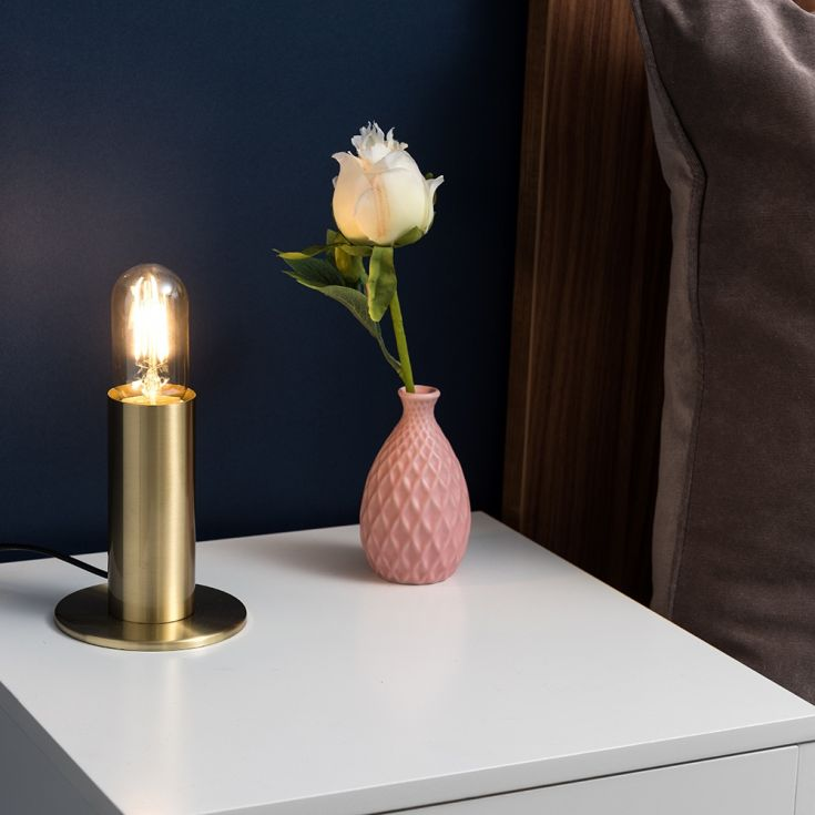 Ellis Table Lamp in Matt Gold