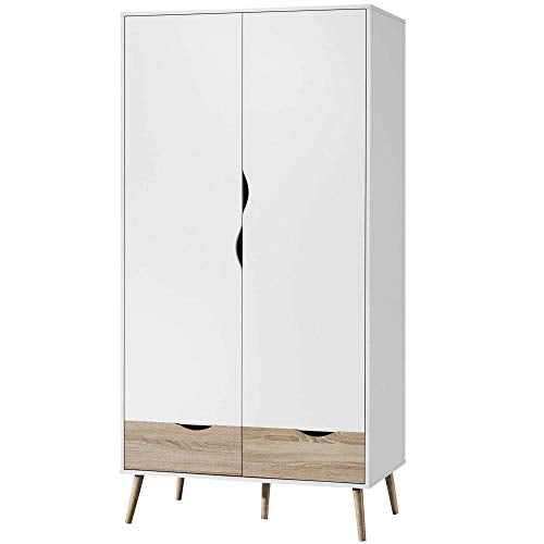 VonHaus Double Wardrobe With Drawers And Shelves