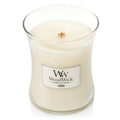 Woodwick Medium Hourglass Scented Candle | Linen