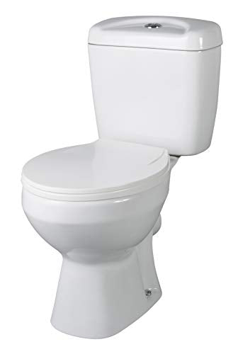 VeeBath Base Ceramic White Close Coupled Modern Cloakroom Bathroom WC Toilet