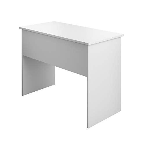 Office Hippo Home Office Computer Desk with Shelf and Drawer, White