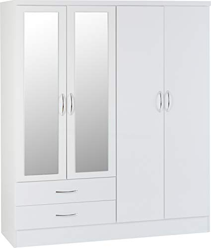 Seconique Nevada 4 Door 2 Drawer Wardrobe