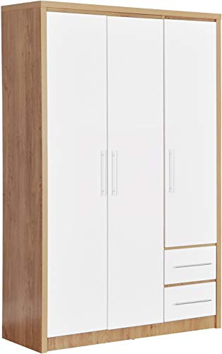 Seconique Seville 3 Door 2 Drawer Wardrobe