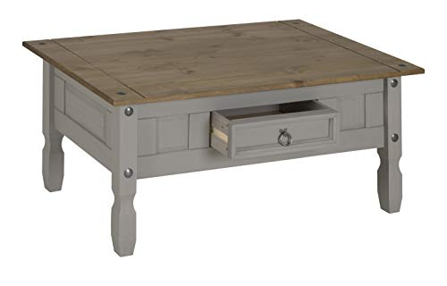 Corona Grey Wax Coffee Table