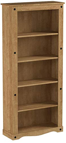 Corona Tall Pine Bookcase