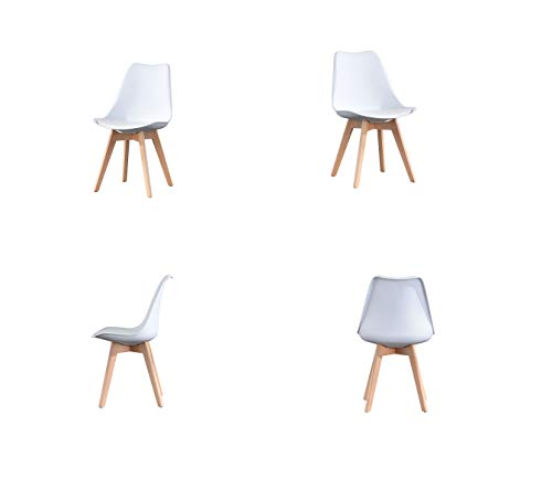 ArtDesign FR Set of 4 Tulip Dining Chairs