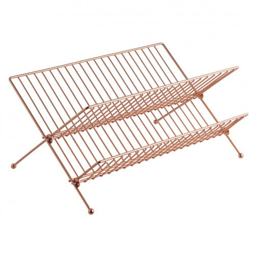 ALKA Copper finish metal dish drainer