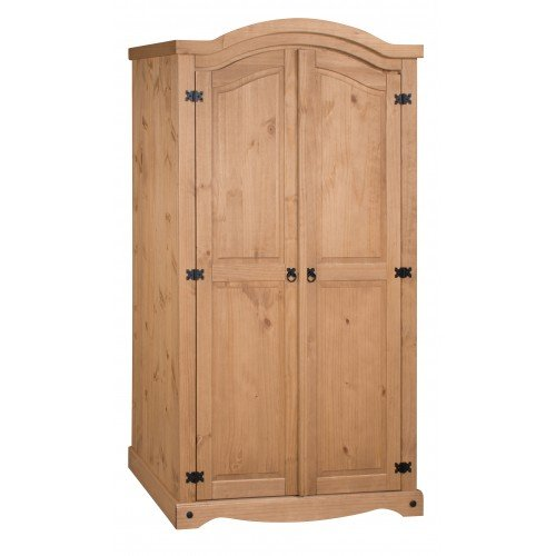 Corona 2 Door Solid Pine Arch Top Wardrobe