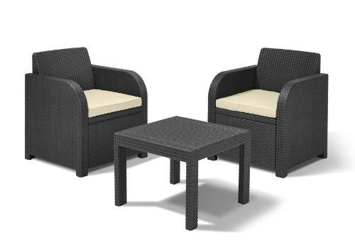 Allibert by Keter Atlanta 2 Seater Rattan Garden Furniture