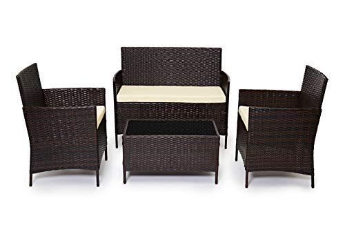 Evre Rattan Garden Furniture Set
