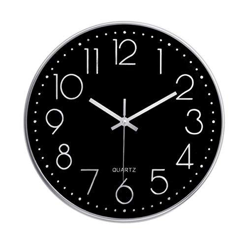 Foxtop Silent Non-Ticking Quality Quartz Round Battery Operated Wall Clock