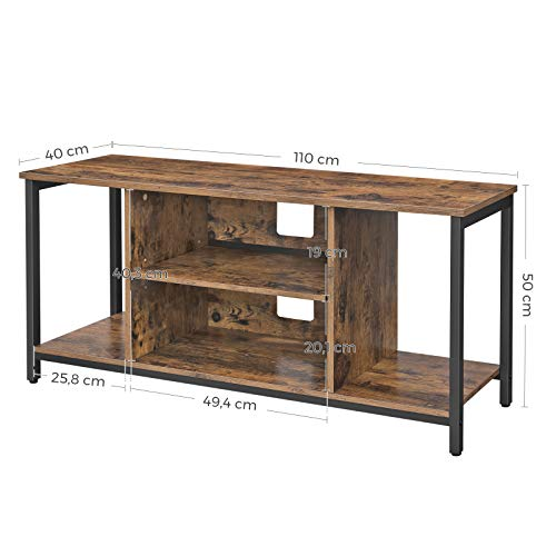 VASAGLE TV Stand, Cabinet with Open Storage