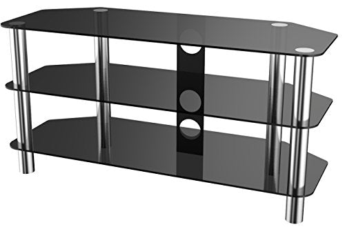 Stealth Mounts 39711 1000mm Glass and Chrome TV Stand