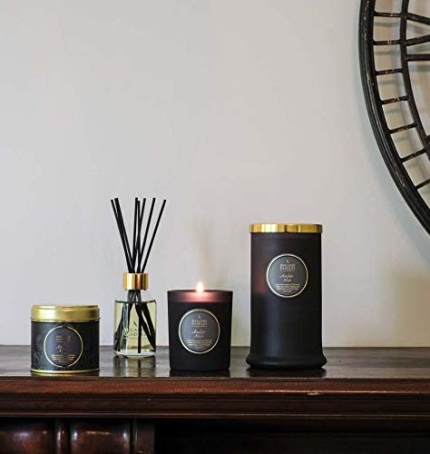 Shearer Candles Amber Noir Scented Jar Candle with Gold Lid - Black