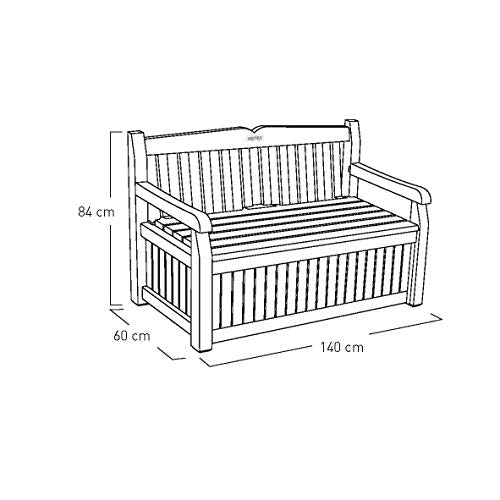 Keter Eden Bench Outdoor Plastic Storage Box Garden Furniture