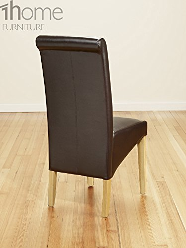 1home Set of 2 Faux Leather Dining Chairs