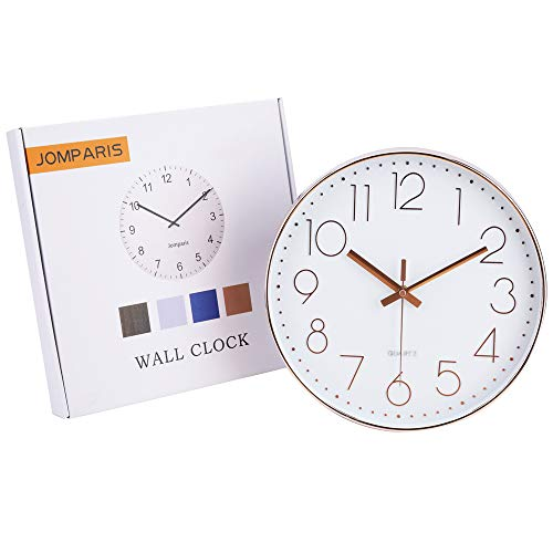Modern 12 Inch Battery Operated Silent Non-ticking Wall Clock