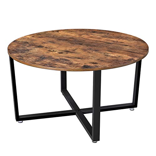 VASAGLE Round Coffee Table