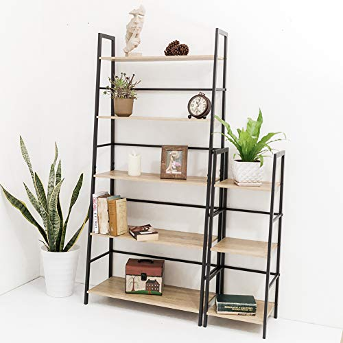 C-Hopetree Ladder Bookcase Bookshelf Storage Shelf