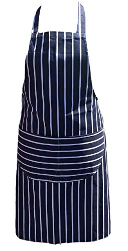 Chefs Apron Professional Quality Blue & White