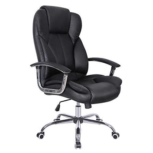 SONGMICS Office Chair with High Back Large Seat and Tilt Function