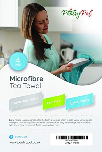 PantryPal Microfibre Tea Towels | Packs of 4