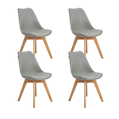 DORAFAIR Set of 4 Tulip Modern Design Dining Chairs