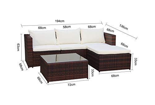 Evre Outdoor Rattan Garden Furniture Set