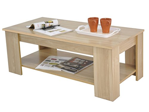Kimberly Lift Up Top Coffee Table Storage & Shelf